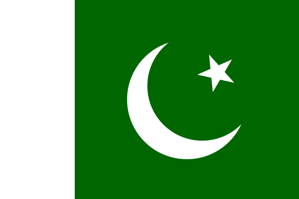 Flag of pakistan green with a vertical white band symbolizing the role