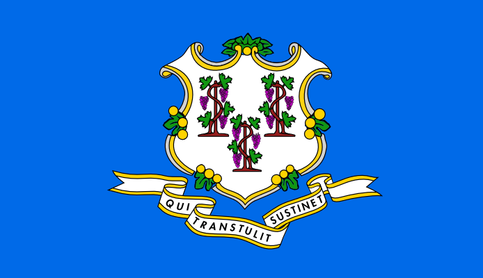 Ct State Flag Coloring Page