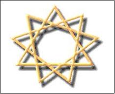 Baha'i Nine Pointed Star Symbol